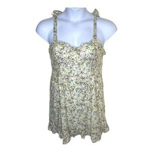 Wild Fable Floral Print Ruffle Cup Dress Large